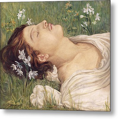Narcissus Metal Print by Helen Thornycroft