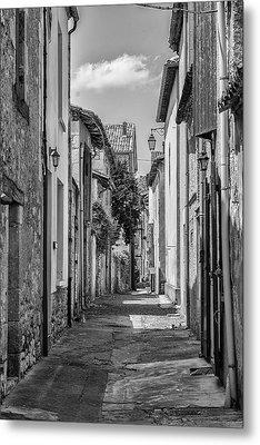 Narrow Streets Of Eymet Metal Print