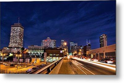 Nashville Tennessee City Skyline Metal Print