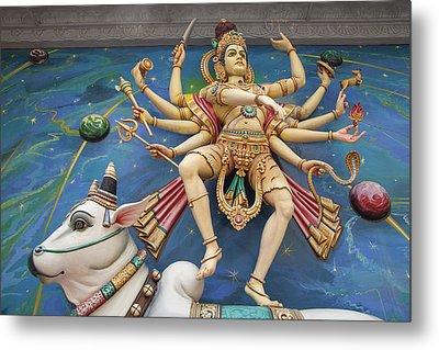 Nataraj Dancing Shiva Statue Metal Print by JPLDesigns