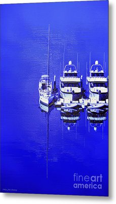 Nautical Reflections Metal Print by MaryJane Armstrong