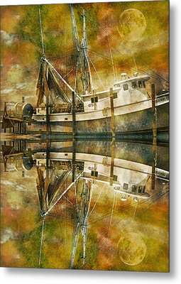 Nautical Timepiece Metal Print by Betsy Knapp