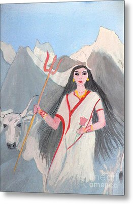 Nava Durga Shailputri Metal Print by Pratyasha Nithin