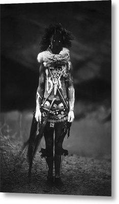 Navajo Warrior Circa 1904 Metal Print by Aged Pixel