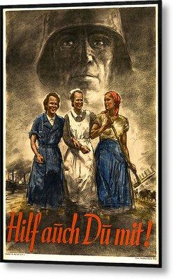 Nazi War Propaganda Poster Metal Print by Daniel Hagerman