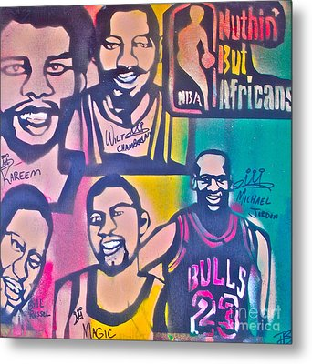 Nba Nuthin' But Africans Metal Print by Tony B Conscious