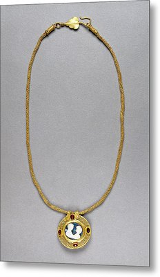 Necklace With Cameo Pendant Unknown Roman Empire 250 - 400 Metal Print