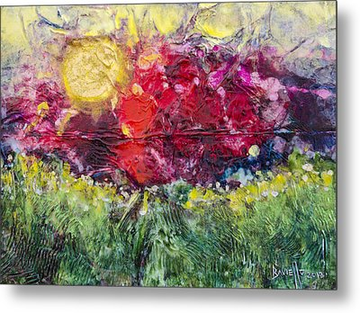 Metal Print featuring the painting Nectarous by Ron Richard Baviello