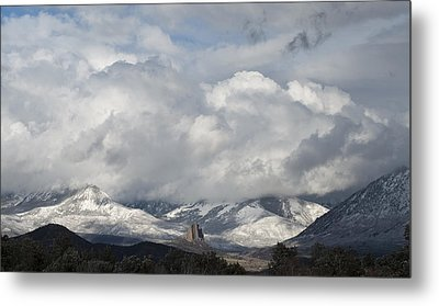 Needle Rock Clearing Sky Metal Print