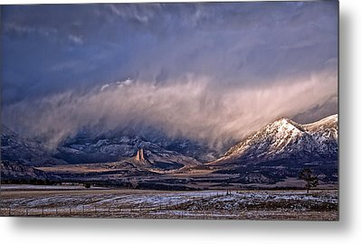 Needle Rock Winters Glow Metal Print