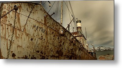 Neglected Whaling Boat Metal Print by Amanda Stadther