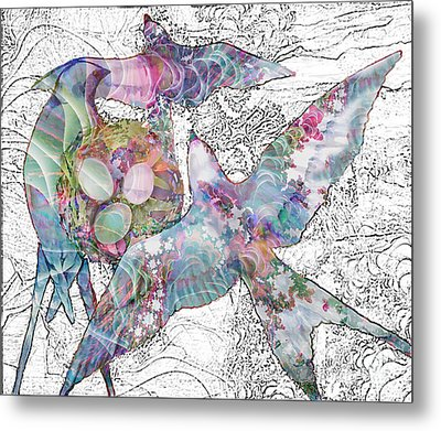 Nesting 3 Metal Print by Ursula Freer
