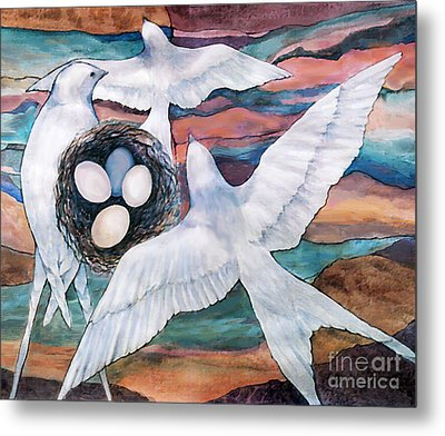 Nesting Metal Print by Ursula Freer