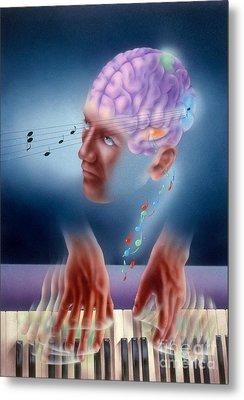 Neural Pathways Metal Print by Jim Dowdalls