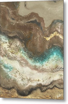 Neutral Tierra Rectangle I Metal Print by Patricia Pinto