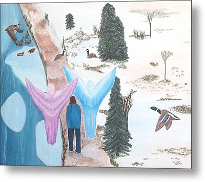 Metal Print featuring the painting Never Alone by Cheryl Bailey