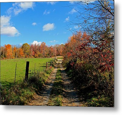New England Farm Rota Springs Metal Print