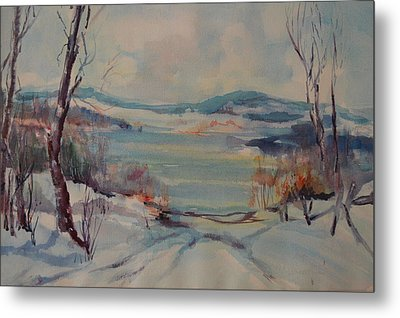 New England Winter Metal Print by Dorothy Campbell Therrien