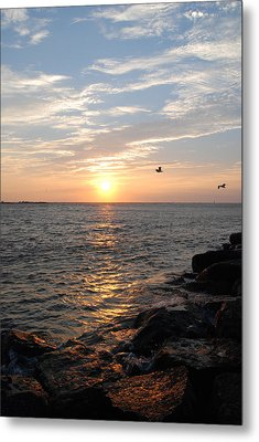 New Jersey Sunrise Metal Print by Kathy Gibbons