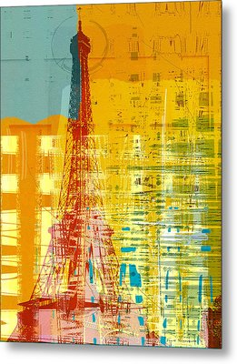 New Paint - Paris Eifel I Metal Print by Joost Hogervorst