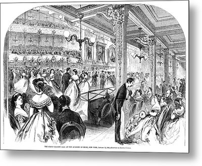 New York Charity Ball, 1866 Metal Print by Granger