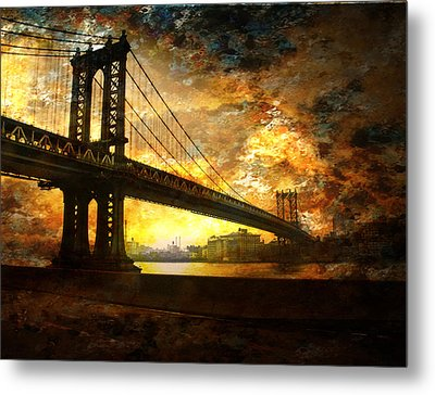New York City Bridge Metal Print