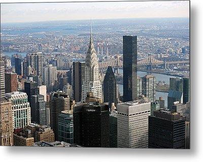 Metal Print featuring the photograph New York City East by Robert  Moss