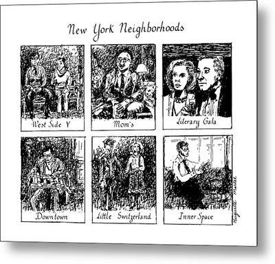 New York Neighborhoods Metal Print by Huguette Marte