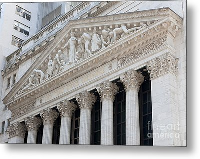 New York Stock Exchange I Metal Print by Clarence Holmes