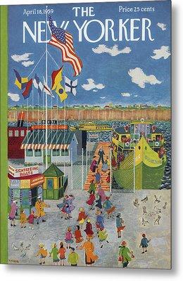 New Yorker April 18th, 1959 Metal Print