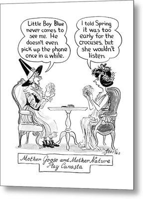 New Yorker April 9th, 1990 Metal Print by Edward Frascino