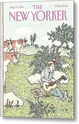 New Yorker August 13th, 1984 Metal Print by William Steig