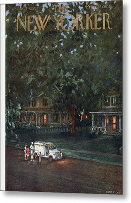 New Yorker August 24th, 1957 Metal Print by Edna Eicke