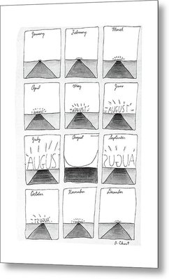 New Yorker August 29th, 1988 Metal Print by Roz Chast