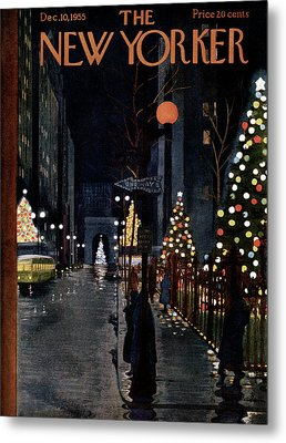 New Yorker December 10th, 1955 Metal Print