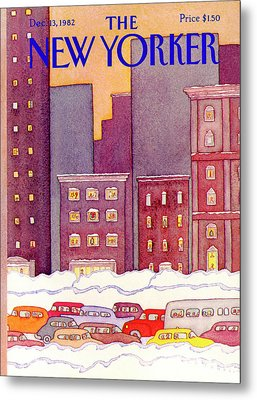 New Yorker December 13th, 1982 Metal Print by Lonni Sue Johnson