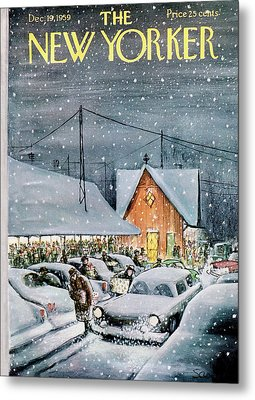 New Yorker December 19th, 1959 Metal Print by Charles Saxon