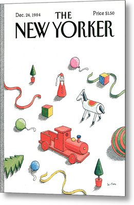 New Yorker December 24th, 1984 Metal Print by Pierre LeTan