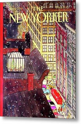 New Yorker December 7th, 1992 Metal Print by Roxie Munro