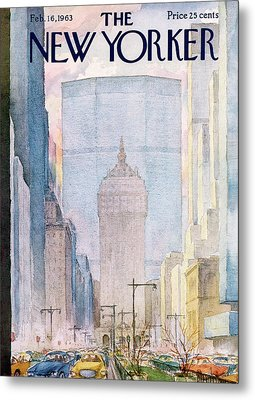 New Yorker February 16th, 1963 Metal Print