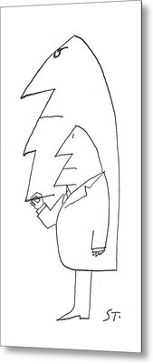 New Yorker February 16th, 1963 Metal Print by Saul Steinberg