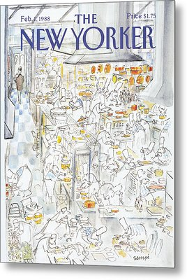 New Yorker February 1st, 1988 Metal Print