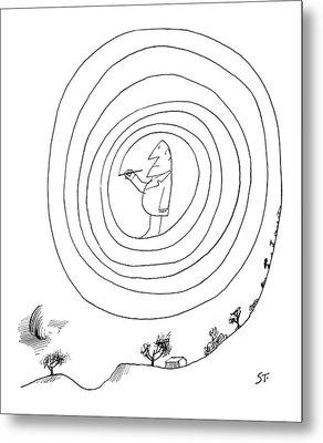 New Yorker February 23rd, 1963 Metal Print by Saul Steinberg