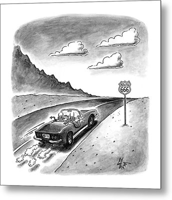 New Yorker February 23rd, 1998 Metal Print by Frank Cotham
