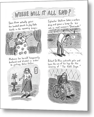New Yorker February 23rd, 1998 Metal Print by Roz Chast