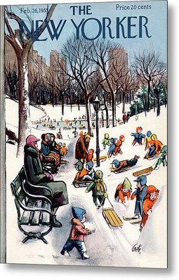 New Yorker February 26th, 1955 Metal Print