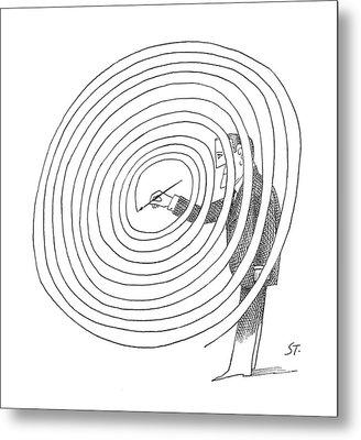 New Yorker February 2nd, 1963 Metal Print by Saul Steinberg
