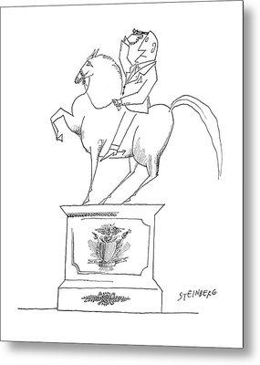 New Yorker January 14th, 1961 Metal Print by Saul Steinberg