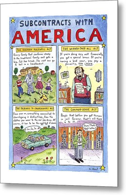 New Yorker January 16th, 1995 Metal Print by Roz Chast