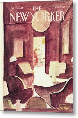 New Yorker January 25th, 1982 Metal Print
